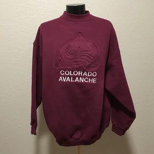 Colorado avalanche sweatshirt in maroon